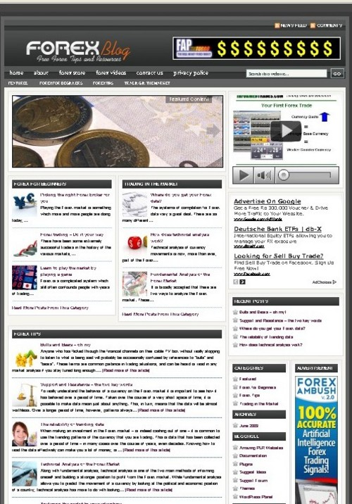Pay for Forex Plr Niche Blog (Wp 3.x.x)