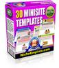 Thumbnail 30 Mini Site Templates