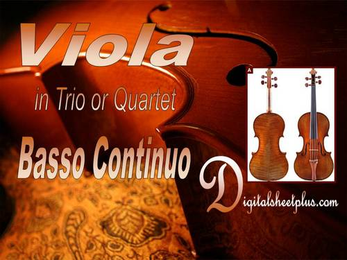Pay for Viola in Trio or Quartet with Basso Continuo Partituras