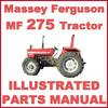 Thumbnail Massey Ferguson MF275 275 Tractor Illustrated Parts Manual Catalog - #1 DOWNLOAD