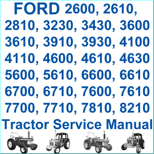 Pay for Ford New Holland 10 & 30 Series from 2600 thru 8210 Tractors 6