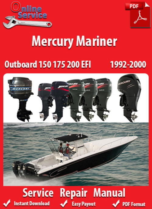 Factory Pdf Manuals  Mercury Mariner 150 175 200 Efi 1992