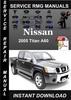 Thumbnail 2005 Nissan Titan A60 Service Repair Manual Download