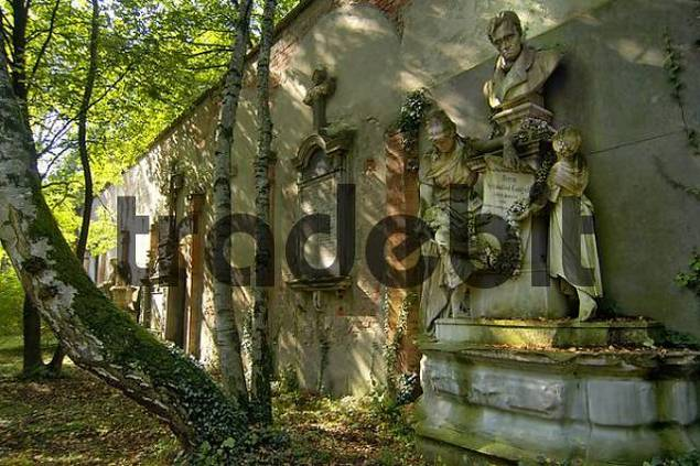 tomb on the South Cemetary in Munich Bavaria Germany