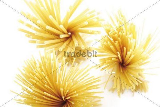 Nudelsorten, Maccaroni, Bavette-Nudeln, Spaghetti