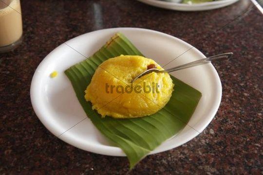 Kesari, typische Süßspeise aus Karnataka, Südindien, Indien, Südasien, Asien