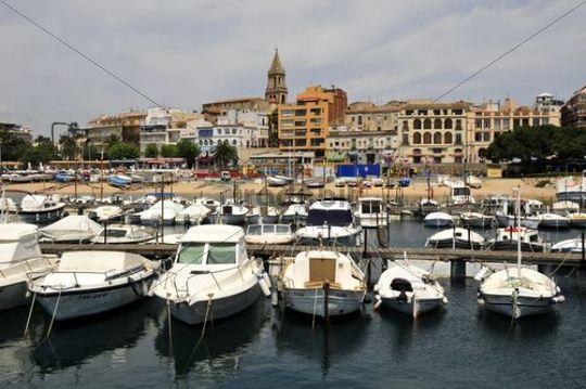 Port of the fishing town of Palamos, Costa Brava, Spain, Iberian Peninsula, Europe