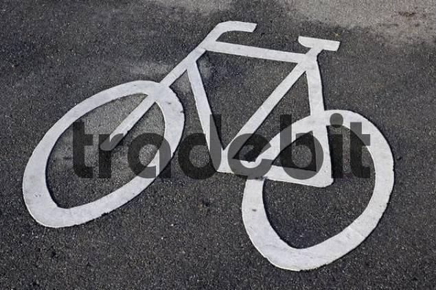 Symbol Radweg